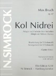 BRUCH M. KOL NIDREI 5 VIOLONCELLES
