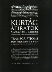 KURTAG G. DE MACHAUT A BACH PIANO 4 MAINS ET 6 MAINS
