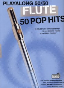 PLAYALONG 50/50 50 POP HITS FLUTE