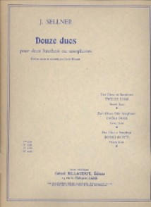 SELLNER J. 12 DUOS VOL 4 HAUTBOIS/SAXO