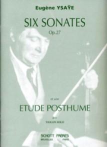 YSAYE E. 6 SONATES OP 27 VIOLON SEUL