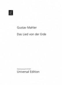 MAHLER G. DAS LIED VON DER ERDE VOCAL SCORE