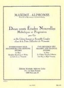 MAXIME-ALPHONSE 200 ETUDES NOUVELLES MELODIQUES VOL 5 COR