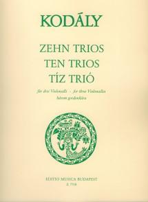 KODALY Z. TRIOS VIOLONCELLES