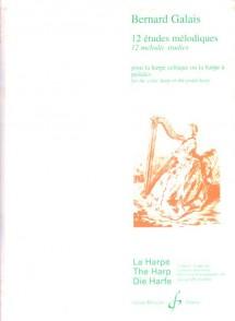 GALAIS B. ETUDES MELODIQUES HARPE