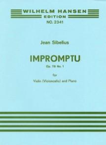 SIBELIUS J. IMPROMPTU OP 78 N°1 VIOLON OU VIOLONCELLE