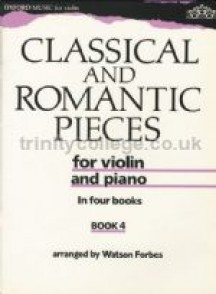 CLASSICAL AND ROMANTIC PIECES VOL 4 VIOLON