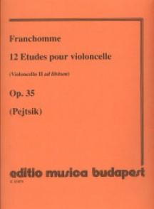 FRANCHOMME A. 12 ETUDES  OP 35 VIOLONCELLE