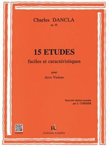 DANCLA C. ETUDES FACILES ET CARACTERISTIQUES OP 68 2 VIOLONS