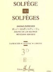 SOLFEGE DES SOLFEGES VOL 3D