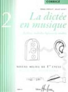 CHEPELOV P./MENUT B. LA DICTEE EN MUSIQUE VOL 2: CORRIGE