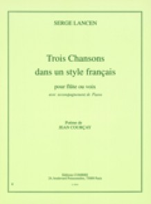 LANCEN S. CHANSONS DANS LE STYLE FRANCAIS FLUTE