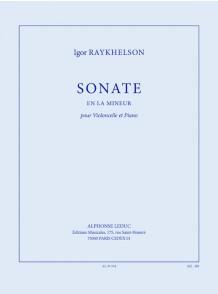 RAYKHELSON I. SONATE LA MINEUR VIOLONCELLE
