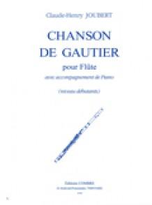 JOUBERT C.H. CHANSON DE GAUTIER FLUTE