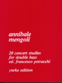 MENGOLI A. 20 CONCERT STUDIES DOUBLE BASS