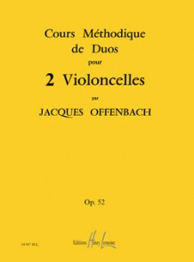 OFFENBACH J. COURS METHODIQUES DE DUOS OP 52 VIOLONCELLES