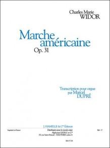 WIDOR C.M. MARCHE AMERICAINE OP 31 ORGUE