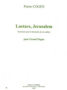 COGEN P. LAETARE JERUSALEM ORGUE
