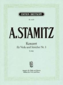 STAMITZ A. CONCERTO B FLAT VIOLA