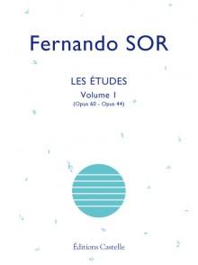 SOR F. ETUDES OP 60 OP 44 VOL 1 GUITARE