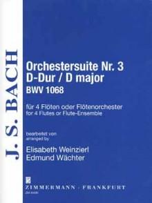 BACH J.S. ORCHESTERSUITE N°3 BWV 1068 4 FLUTES