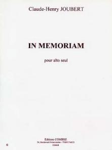 JOUBERT C.H. IN MEMORIAM ALTO SOLO