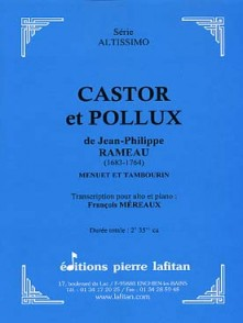 RAMEAU J.P. CASTOR ET POLLUX ALTO
