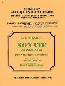 HAENDEL G.F. SONATE SOL MINEUR CLARINETTE