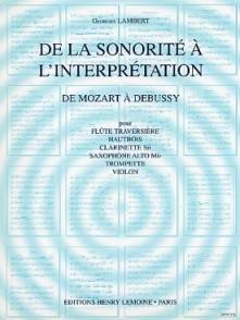 LAMBERT G. DE LA SONORITE VOL 2 FLUTE
