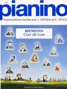 BEETHOVEN L. CLAIR DE LUNE: ADAGIO PIANO