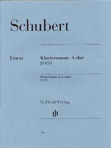 SCHUBERT F. SONATE LA MAJEUR D 959 PIANO