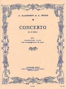 GLAZOUNOV A. CONCERTO MIb SAXO ALTO
