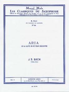 BACH J.S. ARIA DE LA SUITE EN RE SAXOPHONE