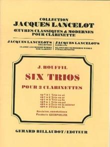 BOUFFIL J./GEISPIELER F. TRIO OP 8 N°1 POUR 3 CLARINETTES