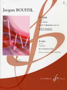 BOUFFIL J./GEISPIELER F. TRIO OP 8 N°2 POUR 3 CLARINETTES