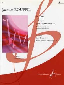 BOUFFIL J./GEISPIELER F. TRIO OP 8 N°3 POUR 3 CLARINETTES