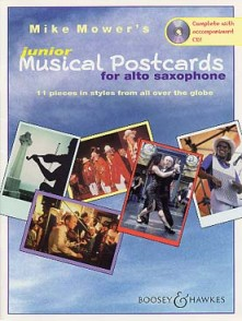 MOWER'S M. MUSICAL POSTCARDS JUNIOR SAXO ALTO