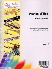 CIESLA A. VENTS D'EST ENSEMBLE CLARINETTES PIANO PERCUSSIONS