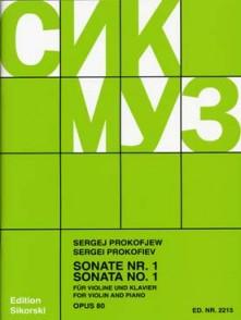 PROKOFIEV S. SONATE N°1 OP 80 VIOLON