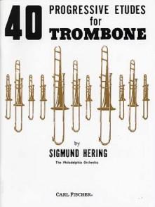 HERING 40 PROGRESSIVE ETUDES TROMBONE