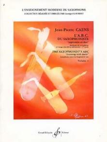CAENS J.P. L'A.B.C. DU SAXOPHONISTE EN DUO VOL 1