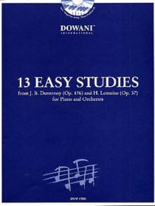 13 EASY STUDIES PIANO ET ORCHESTRE