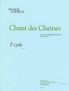 COITEUX F. CHANT DES CLARINES CLARINETTE