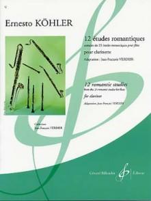 KOHLER E. 12 ETUDES ROMANTIQUES CLARINETTE