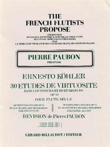 KOHLER E. 30 ETUDES DE VIRTUOSITE VOL 3 FLUTE