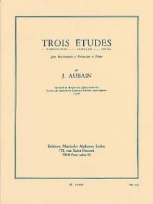 AUBAIN J. TROIS ETUDES POUR PERCUSSION