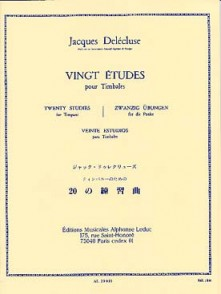DELECLUSE J. ETUDES (20) TIMBALES