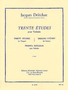 DELECLUSE J. ETUDES (30) 1ER CAHIER TIMBALES