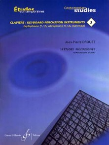 DROUET J.P. 18 ETUDES PROGRESSIVES VOL 3 PERCUSSION A CLAVIER