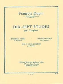 DUPIN F. 17 ETUDES XYLOPHONE